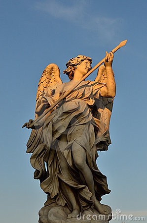 Marble angel statue, Sant Angelo castle, Rome