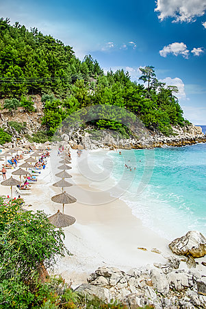 Free Marble Beach (Saliara Beach), Thassos Islands, Greece. Royalty Free Stock Photography - 78864987