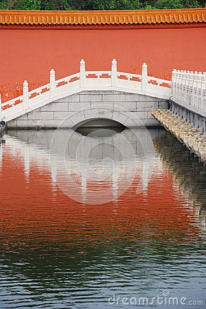 The marble bridge and moat