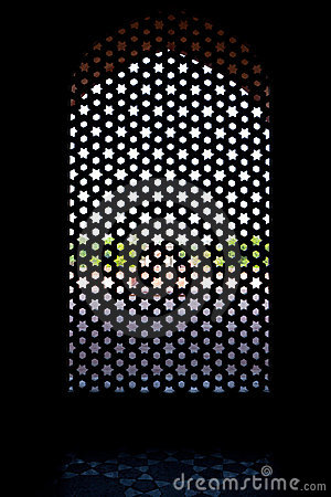 Marble carved screen window at Humayun s Tomb