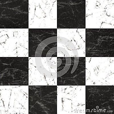 Marble checkerboard floor