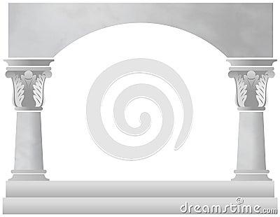 Marble Column Arch