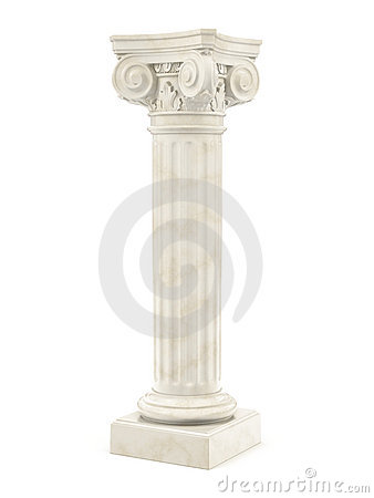Marble column isolated