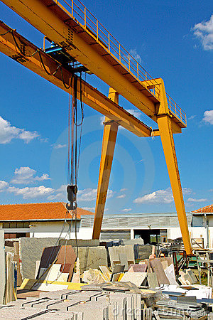 Marble crane industry