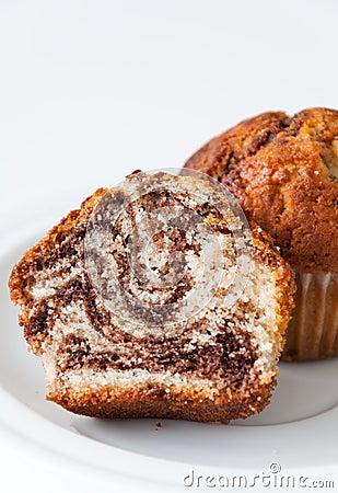 Marble cupcake closeup