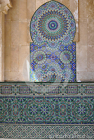 Marble design of Hassan II Mosque,Casablanca