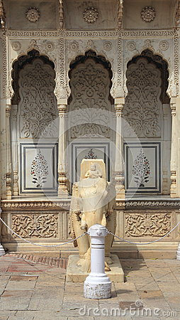 Marble Elephant In Jaipur.