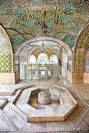 marble fountain of Golestan palace
