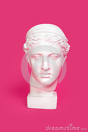 Free Marble Head Of Young Woman, Ancient Greek Goddess Bust Isolated On Pink Background Stock Photos - 84188943