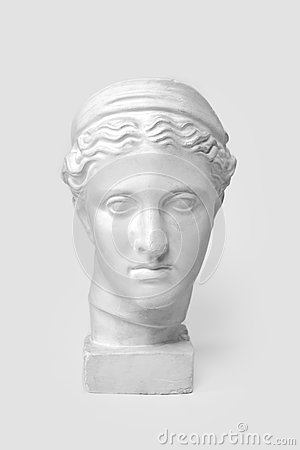 Free Marble Head Of Young Woman, Ancient Greek Goddess Bust Isolated On White Background Royalty Free Stock Photography - 84189417