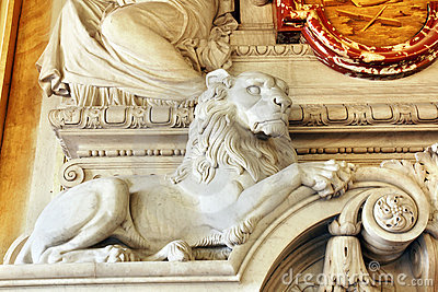 Marble lion detail