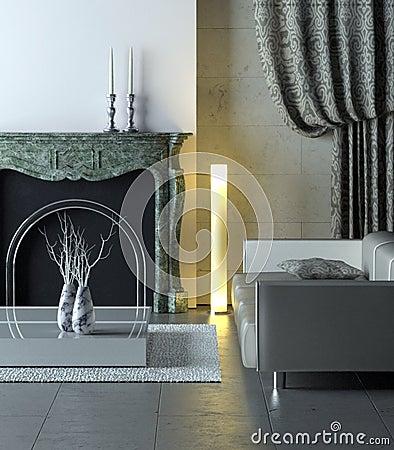 Marble modern interior