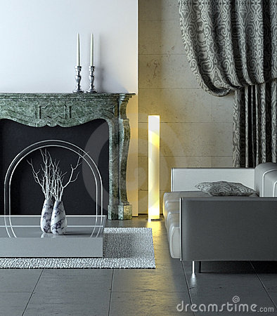 Free Marble Modern Interior Royalty Free Stock Photos - 4051238