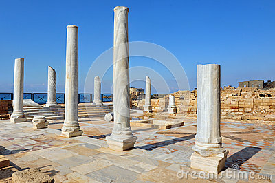 Marble pillars at Caesarea