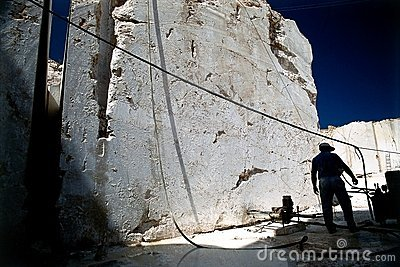 Marble quarry worker