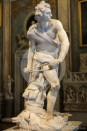 Free Marble Sculpture David  By Gian Lorenzo Bernini  In Galleria Borghese, Rome Royalty Free Stock Images - 69556729