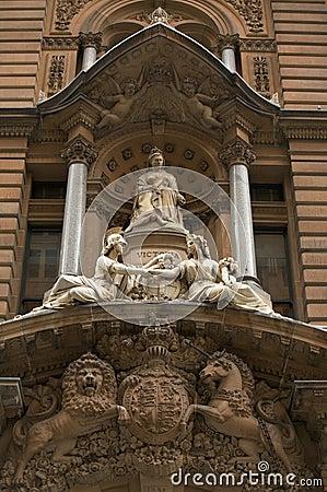 Marble sculpture of Queen Victoria Britain, London