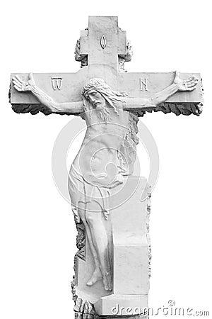 Marble sepulchral cross