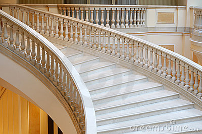 Marble stairs in hotel