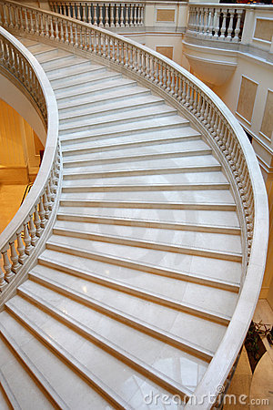 Marble stairs in luxury hotel