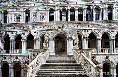 Marble stairway to Doge s Palace