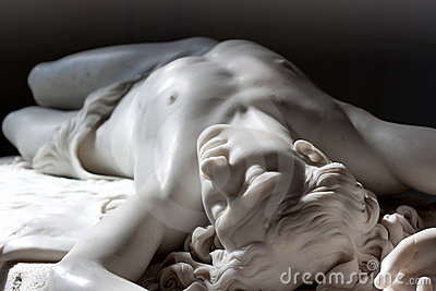 Marble statue of Abel Editorial Image
