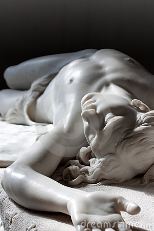 Marble statue of Abel Editorial Photography