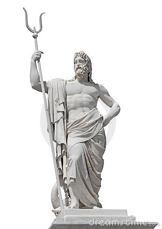 Marble statue of the sea god Neptune