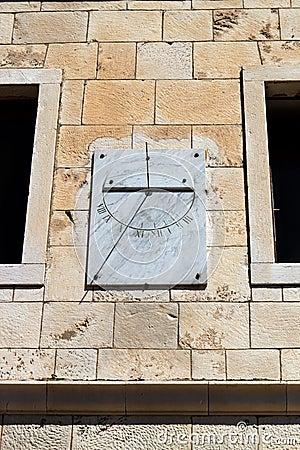 Marble sun-dial