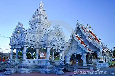 Marble temple,post of city,Nan,Thailand