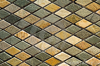 Marble tile mosaic