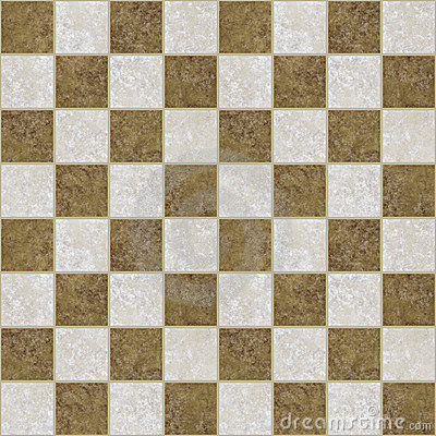 Marble tiled checkered floor