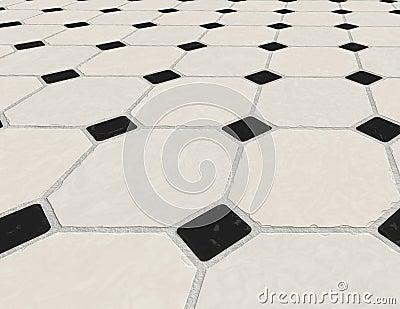 Marble tiled floor tiles