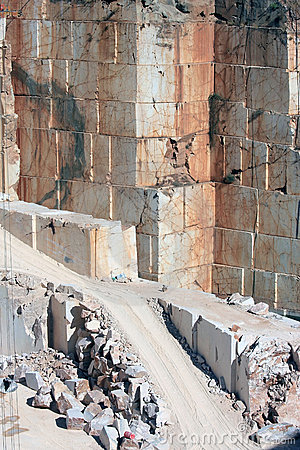 Marble walls in Portuguese quarry near Borba