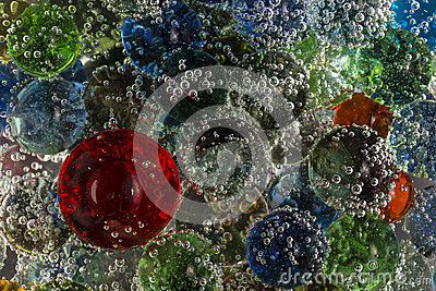 Marbles In Bubbly Soda Stock Photo - Image: 52458950
