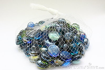 Marbles on pouch
