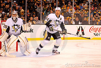 Marc-Andre Fleury and Brooks Orpik (44) Editorial Stock Image