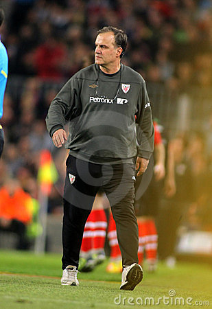 Marcelo Bielsa of Athletic Bilbao Editorial Photography