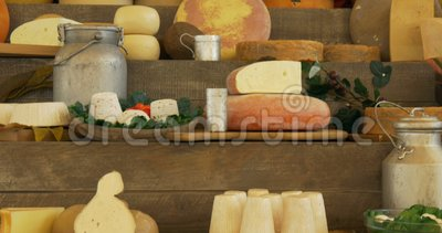 Marché de fromage banque de vidéos