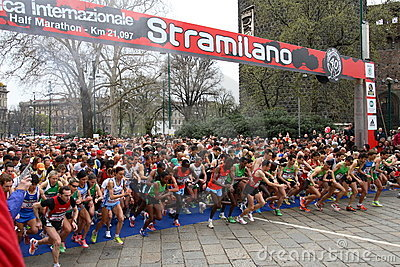March 27, 2011 - 40 ° edition of the Stramilano Editorial Stock Photo