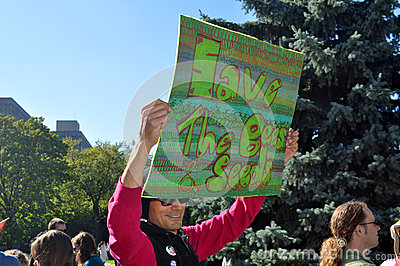 March Against Monsanto, Toronto Editorial Stock Photo