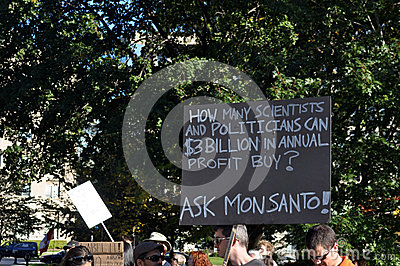 March Against Monsanto, Toronto Editorial Photography