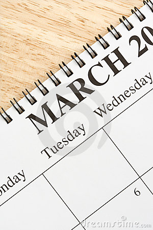 March on calendar.
