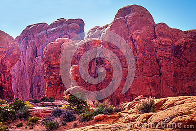 March Of Elephants Garden Of Eden Arches National Park Moab Utah Stock Photo Image 34583570