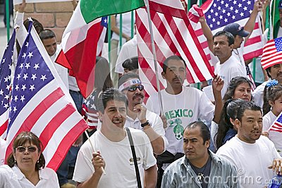March for Immigrants and Mexicans Editorial Stock Photo