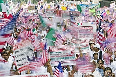 March for Immigrants and Mexicans Editorial Photo