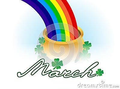 March lucky rainbow
