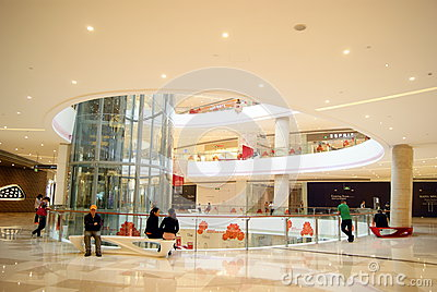 Shenzhen china: haiya binfen city shopping plaza Editorial Photography