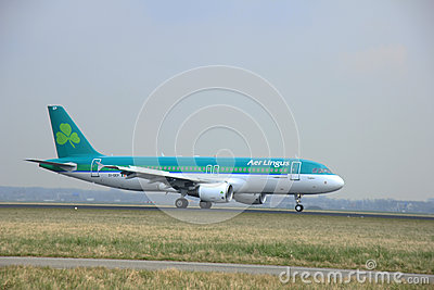 March, 24th 2015, Amsterdam Schiphol Airport EI-DEP Aer Lingus Editorial Stock Photo