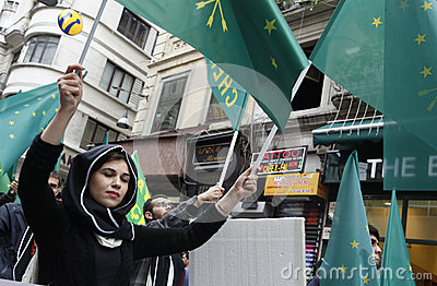 March to protest Circassian genocide Editorial Photography